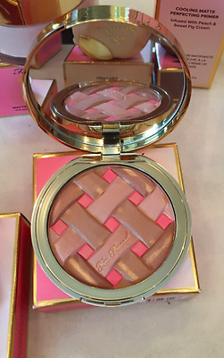 New Too Faced Peach Sweetie Pie Matte Bronzer W/ Peach And Fig 100% Original