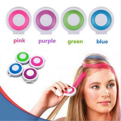 Kids Girl Womens Hot Huez Set Of 4 Bright Party Colours Hair Chalk Temporary Fw
