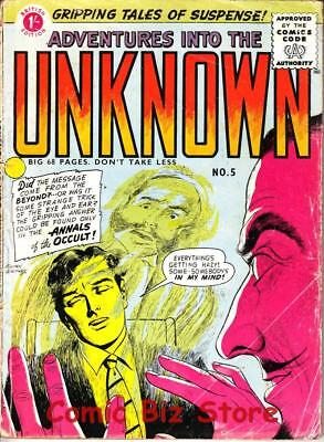 Adventures Into The Unknown #5 (1958) 1St Print Scarce Uk Silver Age Arnold/acg