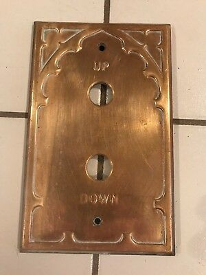 VERY RARE VINTAGE ELEVATOR PANEL PLATE BRASS salvaged from old building