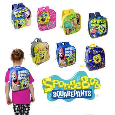 Spongebob Backpack School Sports Bag Extendable Rucksack Boys Girls Kids Swim