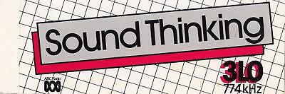 Sound Thinking 3LO 774 kHz from the 1980's sticker 15.5cm x 6cm