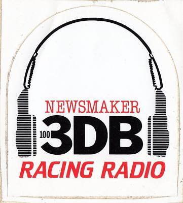 Newsmaker 100 3DB Racing Radio sticker from the 1980's 11cm x 10cm