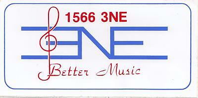 1566 3NE Better Music sticker from the 1980's 15cm x 7.5cm