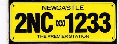 Newcastle 2NC 1233 The Premier Station sticker from the 1980's 16cm x 6cm