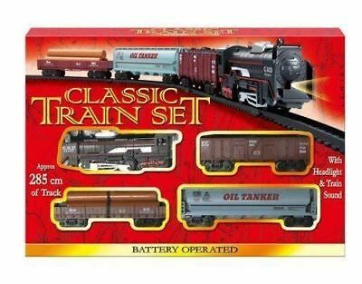 Classic Train Set With Tracks Battery Operated NEW