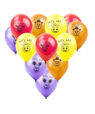 FNAF Party Balloons Five Nights At Freddys x 10 Balloons Five Nights At Freddy's