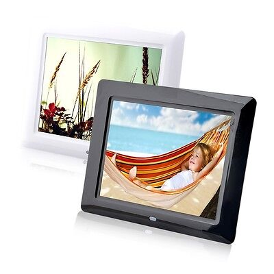8 High TFT-LCD HD Digital Photo Movies Frame Alarm Clock MP3 MP4 Player AOZ