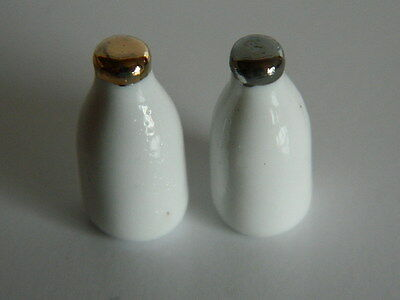 (F1-15) Dolls House Food : Two China Bottles Of Milk