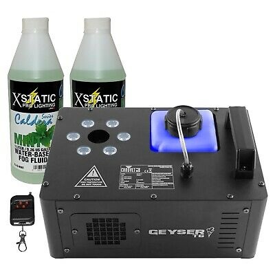 Chauvet DJ Geyser T6 Fog Machine with 6 RGB LEDs and Mint Scented Fog Juice