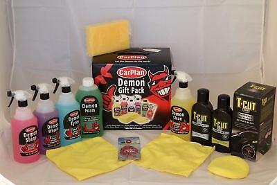 Demon Car Cleaning Valet Gift Birthday Pack & Wax Colour Restorer Scratch