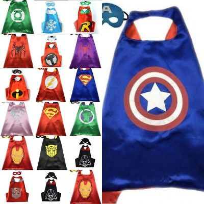 TUT Superhero Cape (1 cape+1 mask) for kids birthday party favors and ideas hot