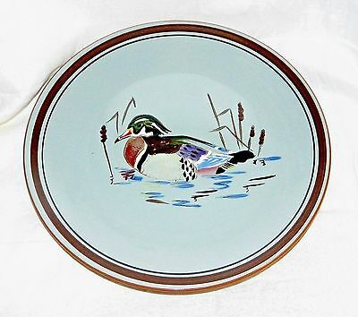 "** Scarce Vintage American Art Pottery Stangl 'wood Duck'  Charger  11 & 1/2"" **"