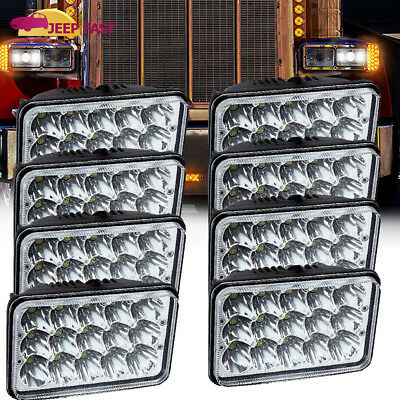 "8PCS  4x6"" LED Headlights Hi-Lo Sealed Beam For Freightliner FLD120 FLD112"