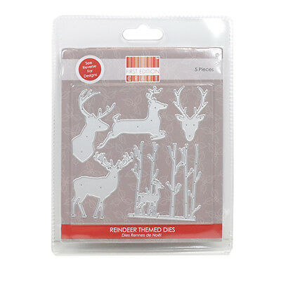 First Edition Reindeers Christmas Die Set FEDIE194X17