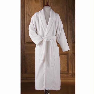 Genuine Turkish 100% Cotton Bathrobe Shawl Collar Large Women 18 Men 44-46 Robe