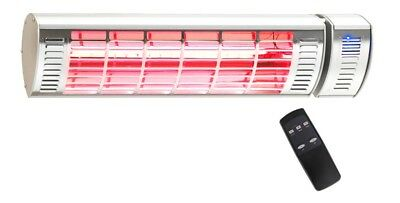 Terrace heater Infrarot- Heating light CasaTherm W2000 LoGlare with and without