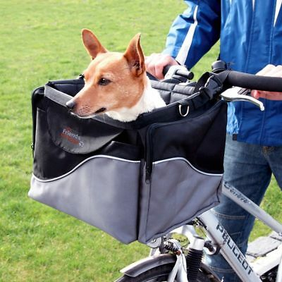 Pet Bicycle Basket Front Bike Small Dog Carrier Transport Basket Travel Puppy