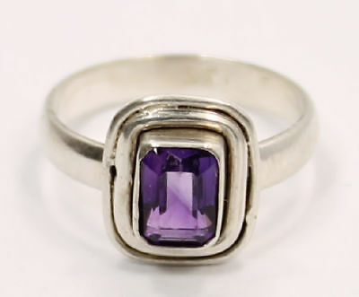 Colourful Amethyst Estate 6 1/4 Ring in .925 Silver