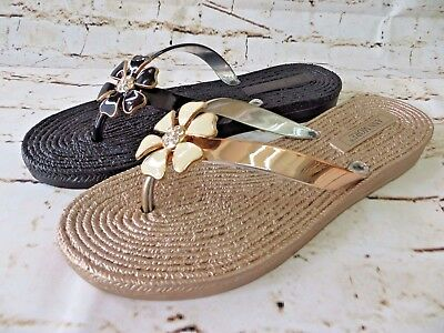 Vienna Jelly Sandal Women Shoes Flip Flop Thong Flat Diamond Flower By Ann More