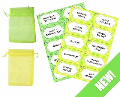 Baby Shower Charades Party Game - Unisex Boy Girl - 20 Player - Premium!