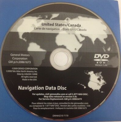 GMC GM SATELLITE Navigation GPS System Map CD Maps Disc 20861673 Ver ...