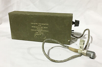 Crystal Calibrator for Wireless Set No.19 Canadian Marconi Company 1945 Dated