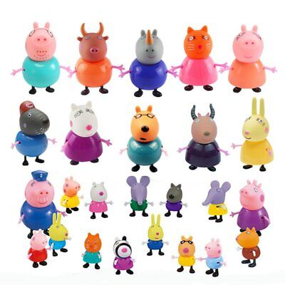 21Pcs Peppa Pig Family Friends Emily Rebecca Suzy Action Kid Gift Figures Toys