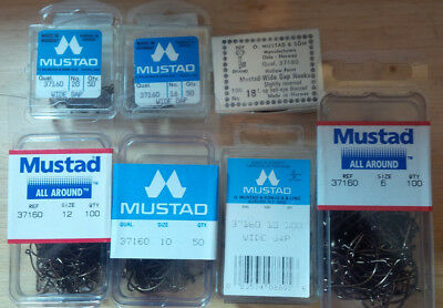 Mustad 37160, Shrimp/Caddis, Wide Gap, Assorted Sizes & Quantities, From Norway