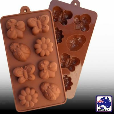 Silicone Flower Bee Chocolate Cake Soap Ice Cookie Baking Molds Mould HKIMO2895