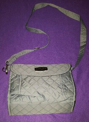 New w/o Tags Lillybit Gray Unisex Diaper Clutch with Adjustable/Removable Strap