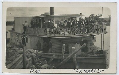 C1910 Rp Npu Postcard Paddlesteamer 'nellie' W S Smith Photographer Adelaide P39