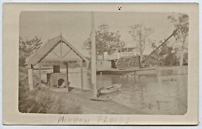 1917 Rp Pu Postcard Paddle Steamer 'renmark' Mannum Flood River Murray Sa P47