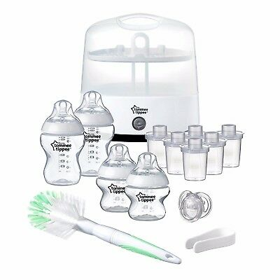 NEW Tommee Tippee Electric Steam Steriliser Set Baby Bottles....Kills 99.9%Germs