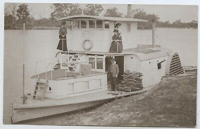 1910 Rp Postcard Paddle Steamer 'etona' Anglican Church Mission Boat Murray P59