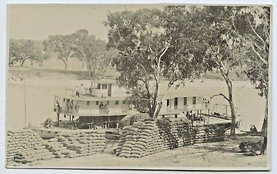 C1910 Rp Npu Postcard Paddle Steamer 'gem'/wheatstacks Marchant Photo Gawler P67