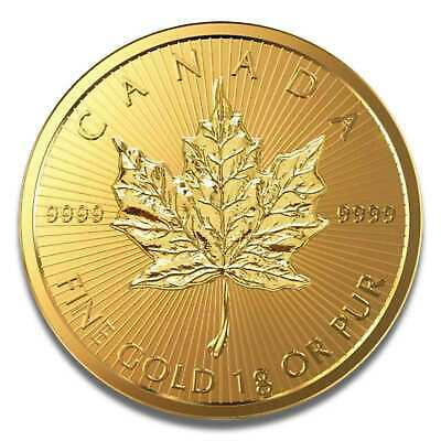 1 Gramm Maple Leaf Goldmünze 2017 999.9 Maplegram im Blister mit Seriennummer
