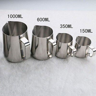 AU 150/350/600/1000ml Expresso Stainless Steel Coffee Frothing Milk Latte Jug