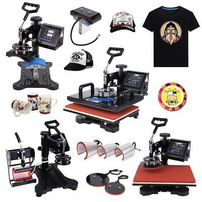 8 in 1 Digital Heat Press Machine Transfer Sublimation Swing-away DIY Printer
