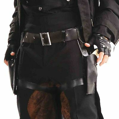 Twin Thigh Holster Cowboy Belt Lara Gun West Industrial Steampunk Raider Sci fi