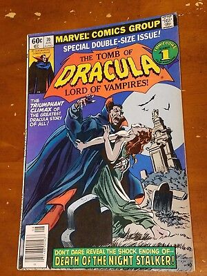 THE TOMB OF DRACULA #70 (1979) Marvel Bronze age FINAL ISSUE of series Blade