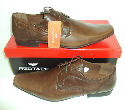 RED TAPE Kingston Men's Leather Brown Lace Up Casual Formal New Shoes Sizes 6-12