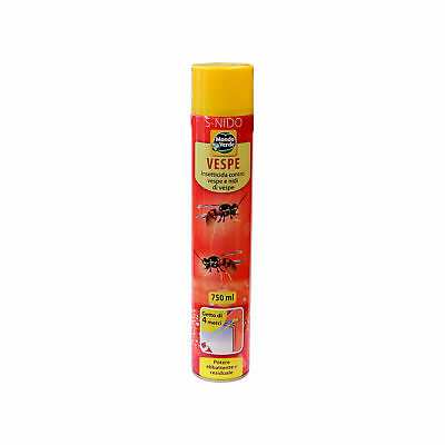 Insetticida spray contro vespe api calbroni insetti volanti 750ml getto 4mt