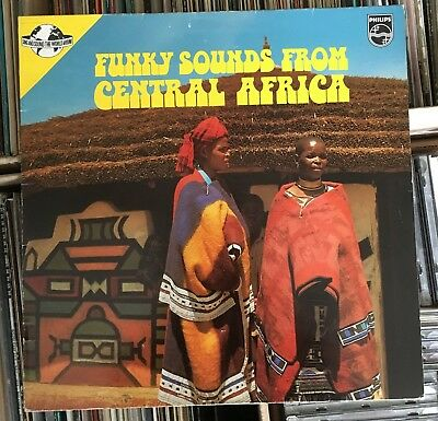 Funky Sounds From Central Africa ~ Super Rare Afro Funk Lp ~ Orig ~ Vinyl Nm