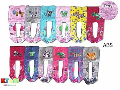 Baby Girl Crawling Terry Cotton Tights ABS Sole Rubberized Anti slip Knees 3-24m