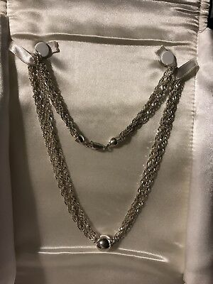 Sterling Silver Solid 925 Necklace!  Just BEAUTIFUL!