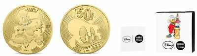 2017 DISNEY DAGOBERT PICSOU - 50 Euro 1/4 Uz Gold Or PP/PROOF 1.000 Ex