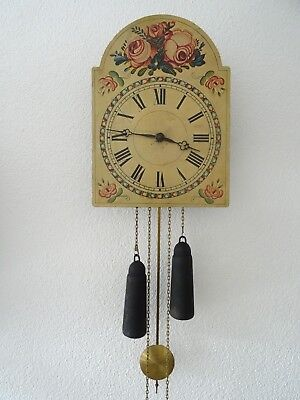 German Vintage Apple 8 day Wall Clock Schwarzwalder (Junghans Kienzle era)