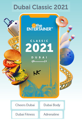 Entertainer Dubai 2019 - 7 day App Rental with Cheers/Hotels