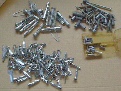 Lot of 100+ Molly & Lead ANCHOR Hollow Wall assortment NOS & used 1 1/2 x 1/8 et